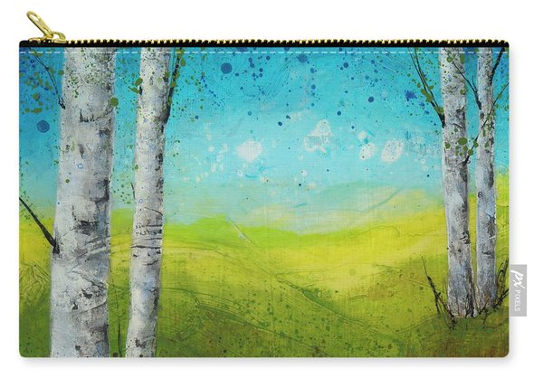 Birches In Green Carry-all Pouch