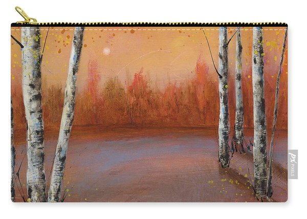 Birches In The Fall Carry-all Pouch