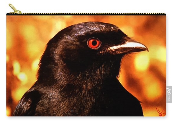 Carry-all Pouch featuring the photograph Bird Friend  by Colette V Hera  Guggenheim