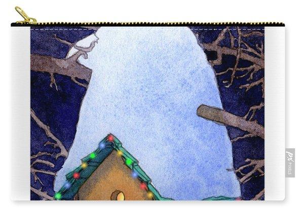 Bird House Christmas Carry-all Pouch