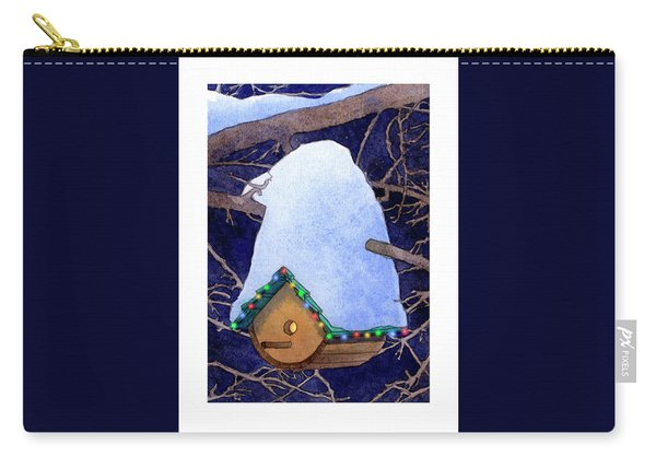 Bird House Christmas Carry-all Pouch