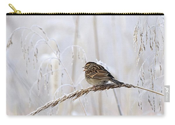 Bird In First Frost Carry-all Pouch