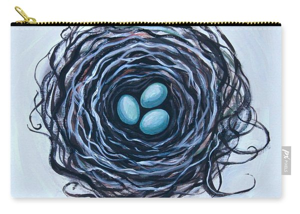 Bird Nest And Eggs Carry-all Pouch