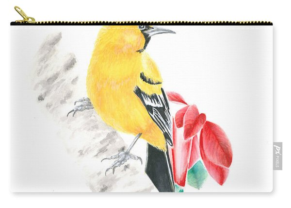 Bird In Yellow Carry-all Pouch