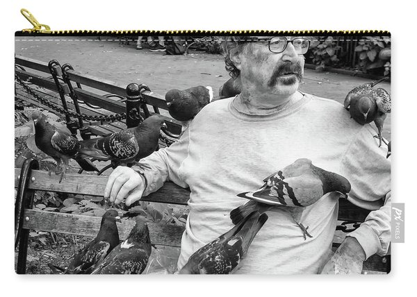 Carry-all Pouch featuring the photograph Birdman Of Wsp by Eric Lake