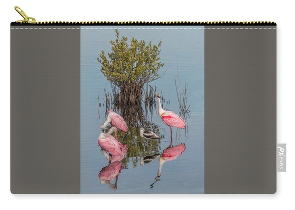 Birds And Mangrove Bush Carry-all Pouch