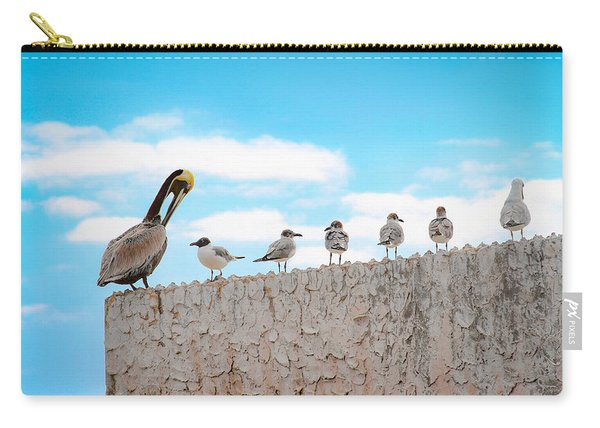 Birds Catching Up On News Carry-all Pouch