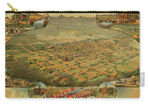 Bird's Eye View Of Phoenix, Maricopa County, Arizona Carry-all Pouch