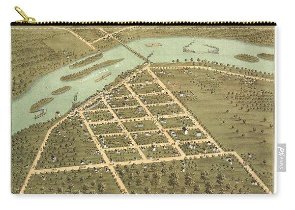 Bird's Eye View Of Prairie Du Sac, Sauk County, Wisconsin 1870 Carry-all Pouch