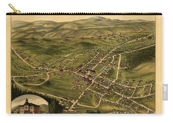 Bird's Eye View Of The Village Of Farmington, Stafford County, New Hampshire 1877 Carry-all Pouch