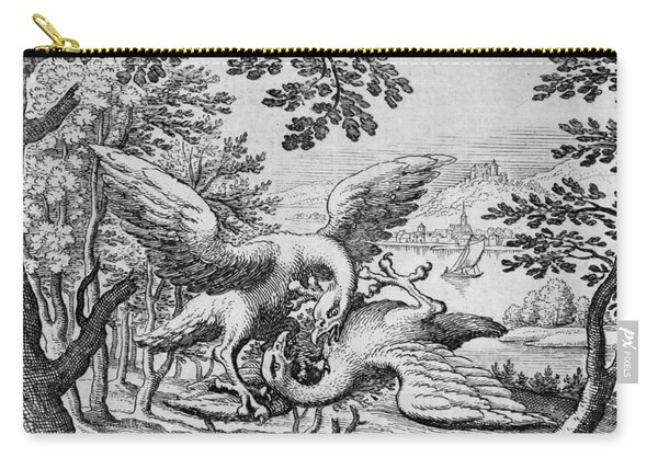 Birds Fighting From Musaeum Hermeticum, 1678 Carry-all Pouch