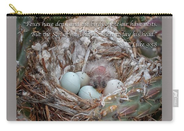 Carry-all Pouch featuring the photograph Birds Have Nests by Mary Lee Dereske