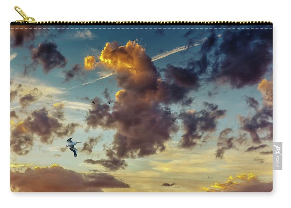 Birds In Flight At Sunset Carry-all Pouch