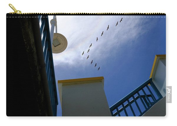 Birds In Formation Over The Boardwalk At Daytona Beach Florida Carry-all Pouch