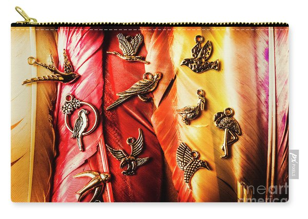 Birds Of A Decor Feather Carry-all Pouch