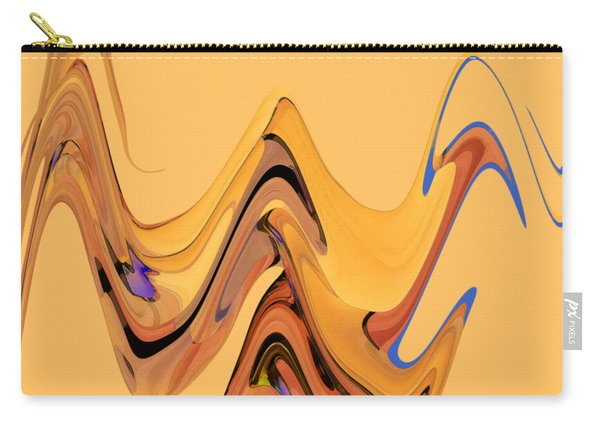 Carry-all Pouch featuring the digital art Birds Of Paradise Improvisation by Gina Harrison