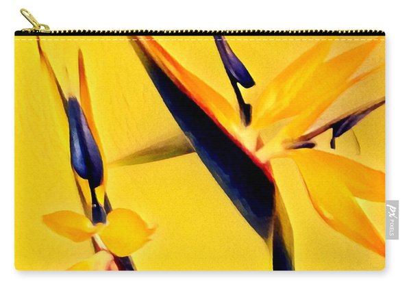 Birds Of Paradise - Two In Gold Carry-all Pouch