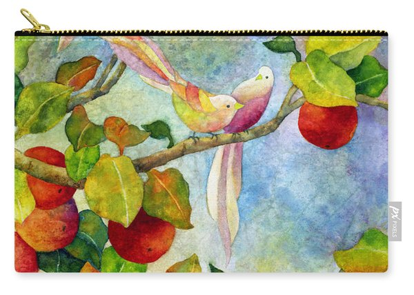 Birds On Apple Tree Carry-all Pouch