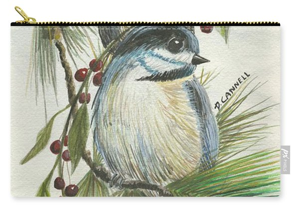 Birds Two And Fir Tree Carry-all Pouch