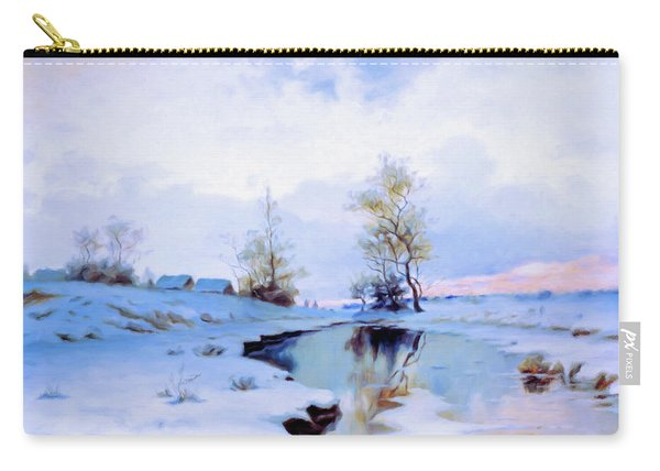 Birth Of Spring In The Snow Carry-all Pouch