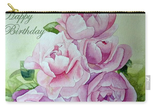 Birthday Peonies Carry-all Pouch