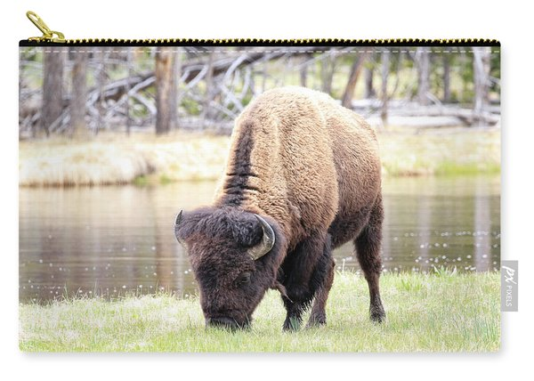 Bison By Water Carry-all Pouch