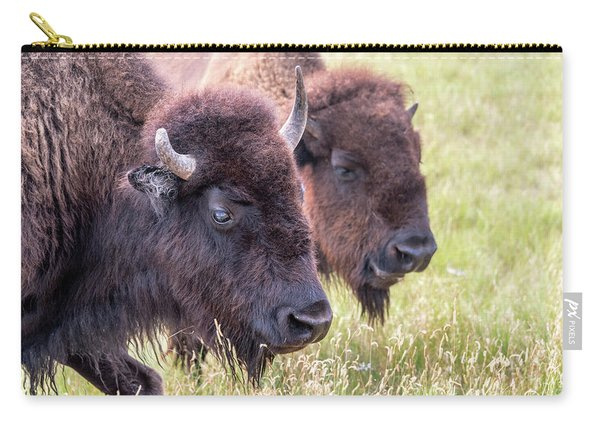 Bison Closeup View Carry-all Pouch
