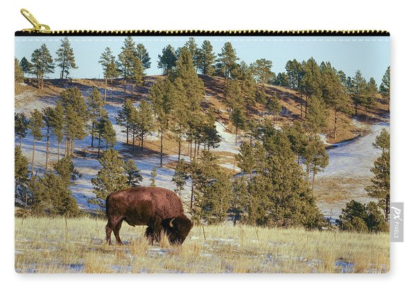Carry-all Pouch featuring the photograph Bison In Custer State Park by Bill Gabbert