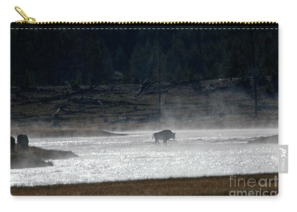 Bison In The River Carry-all Pouch