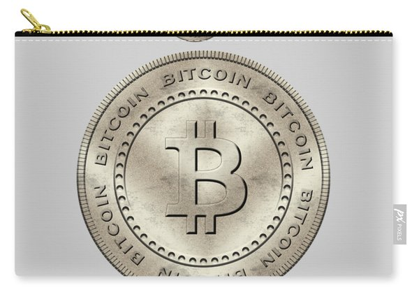 Bitcoin Symbol Hodl Quote Typography Carry-all Pouch
