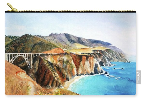 Bixby Bridge Big Sur Coast California Carry-all Pouch