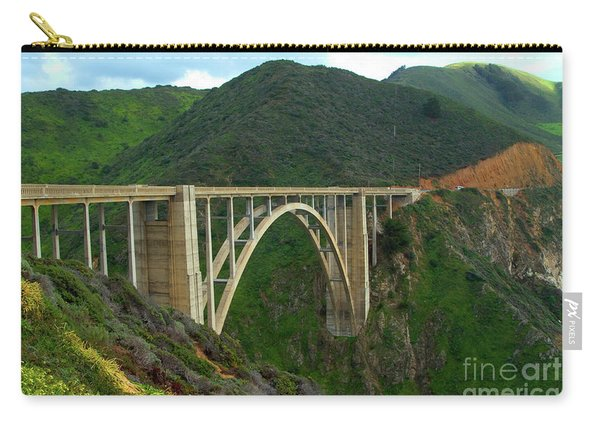 Bixby Bridge In Big Sur Carry-all Pouch