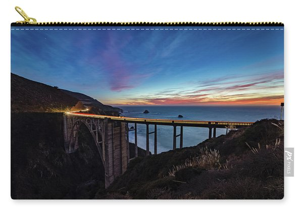 Bixby Bridge Sunset Carry-all Pouch