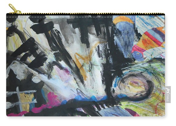 Black Abstract Carry-all Pouch
