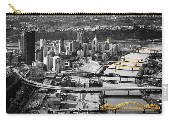 Black And Gold Pittsburgh  Carry-all Pouch