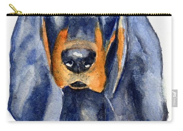 Black And Tan Coonhound Dog Carry-all Pouch