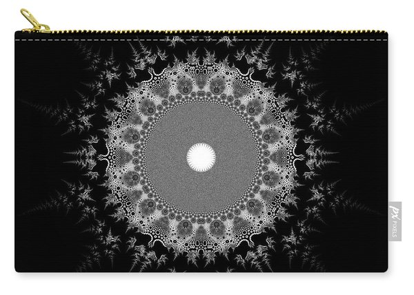 Carry-all Pouch featuring the digital art Black And White 236 by Robert Thalmeier