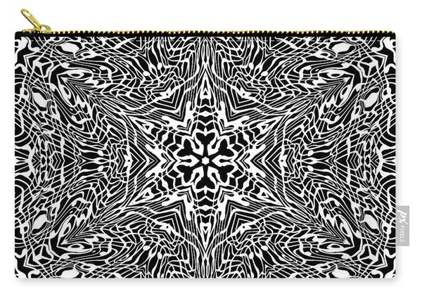 Carry-all Pouch featuring the digital art Black And  White 27 by Robert Thalmeier