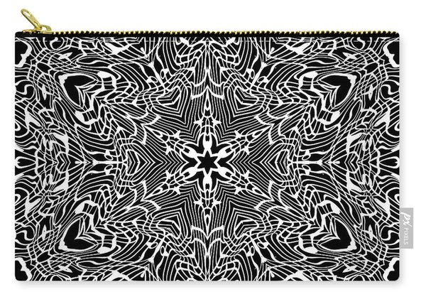 Carry-all Pouch featuring the digital art Black And  White 28 by Robert Thalmeier