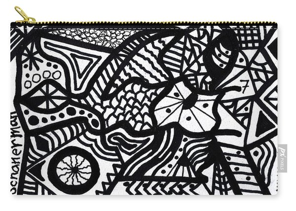 Black And White 7 Carry-all Pouch