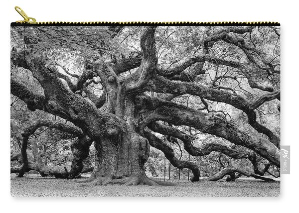 Black And White Angel Oak Tree Carry-all Pouch