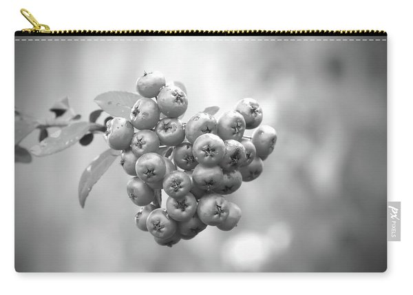 Black And White Berries Carry-all Pouch