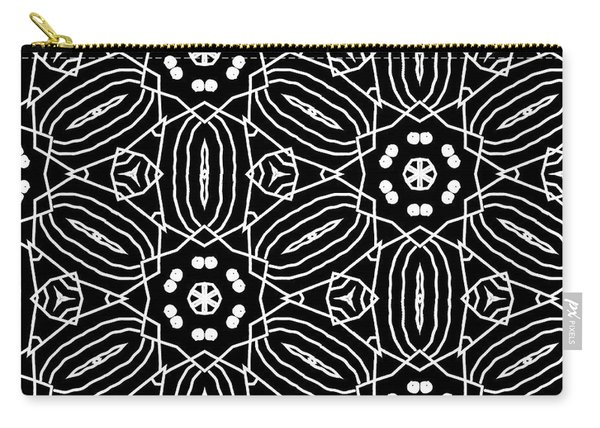 Black And White Boho Pattern 2- Art By Linda Woods Carry-all Pouch