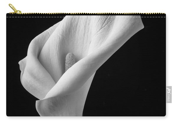 Black And White Calla Lily Carry-all Pouch