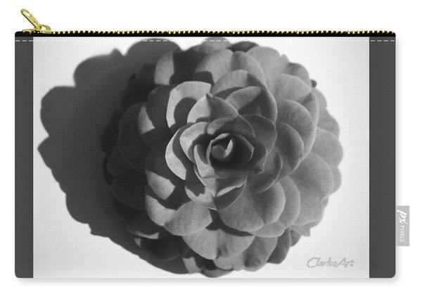 Camellia In Black And White Carry-all Pouch