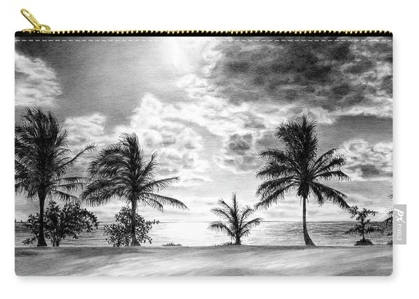 Black And White Caribbean Sunset Carry-all Pouch