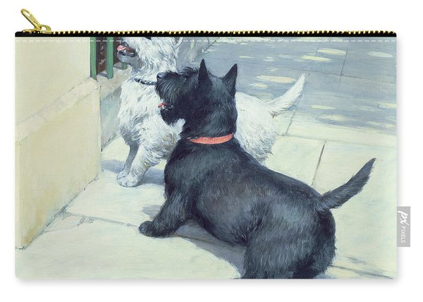 Black And White Dogs Carry-all Pouch