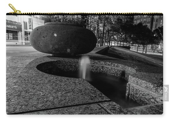 Black And White Fountain Carry-all Pouch