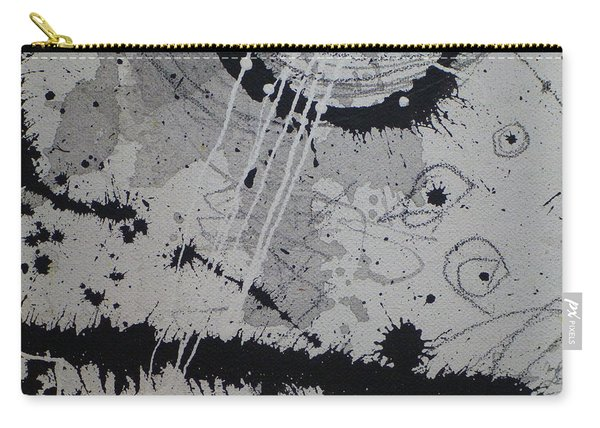 Black And White Four Carry-all Pouch