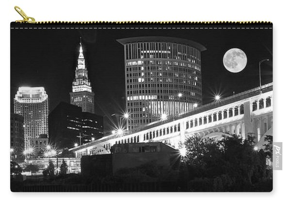 Black And White Full Moon Night Carry-all Pouch